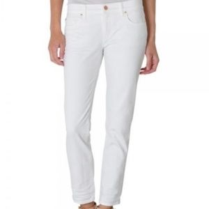 Fidelity White Cropped Jeans